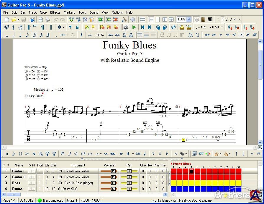 Guitar Pro 5.2 - Редактор партитур для гитары, басс-гитары, банжо и т